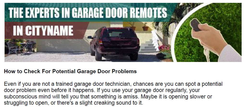 How to Check For Potential Garage Door Problems - Garage Door Repair South Gate